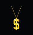 necklace with dollar vector image vector image