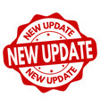 new update sign or stamp vector image vector image