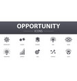 opportunity simple concept icons set contains vector image vector image