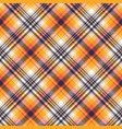 orange plaid seamless pattern vector image vector image