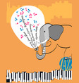 poster with an elephant playing jazz vector image vector image