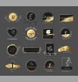premium gold logo for printingproductweddingvec vector image vector image