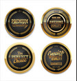 premium quality gold and black labels vector image vector image