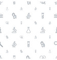 research icons pattern seamless white background vector image vector image
