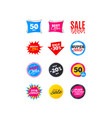 sale banners best offers discounts tags vector image vector image