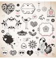 Set of hand drawn elements vector image vector image