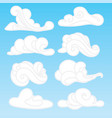 set of stylized clouds a collection of vector image vector image