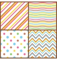 set seamless colorful patterns for easter eggs vector image