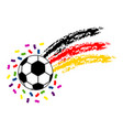 soccer ball with the flag of germany vector image vector image