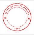 south dakota rubber ink stamp vector image vector image