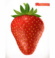 strawberry fresh fruit 3d realistic icon vector image vector image