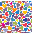 Stylized hearts background seamless pattern vector image vector image