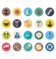 summer beach vacation icons vector image vector image