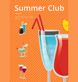 summer club advert poster vector image vector image