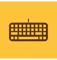 The keyboard icon Keypad and input typing vector image