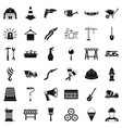 tool icons set simple style vector image vector image