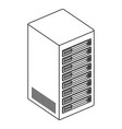 tower server isometric icon vector image vector image