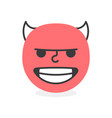 trendy evil emoji smile eps10 vector image vector image