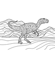 Tyrannosaurus coloring book for adults vector image