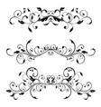vintage floral dividers decorative ornaments vector image vector image