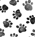 Watercolor with animal footprints vector image vector image