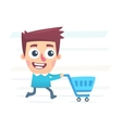Whole day for shopping vector image