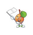 with flag shipova fruit cartoon on white vector image vector image