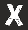x white alphabet letter isolated on black vector image