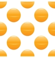 Yellow ball pattern vector image vector image