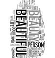 you are beautiful text word cloud concept vector image vector image