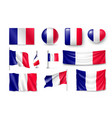 set france flags banners banners symbols flat vector image