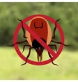 Warning Symbol parasite sign The woods can be vector image