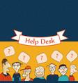 help desk board vector image