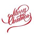 Merry Christmas Lettering - Design Element vector image