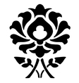14 Ornamental flower silhouette pattern flower vector image vector image