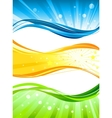 Abstract colour banners vector image