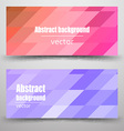 Abstract mosaic Banner vector image