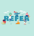 affiliate partnership concept people characters vector image vector image