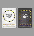 barricade tape posters set duct tape background vector image