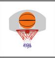basketball ball and basket vector image vector image