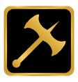 battle axe button vector image vector image
