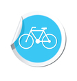 bicycle icon round blue vector image