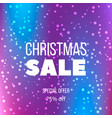big christmas sale poster special offer discount vector image vector image