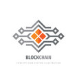 block chain logo template design electronic vector image vector image