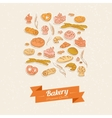 Bread and pastry vector image vector image
