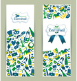Bright carnival banners vector image vector image
