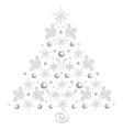 bright merry christmas tree single vector image vector image