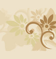 brown background with swirls floral vector image