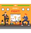 Business Competition Symbols Fight Banner vector image