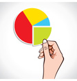 Business Graph in hand vector image vector image
